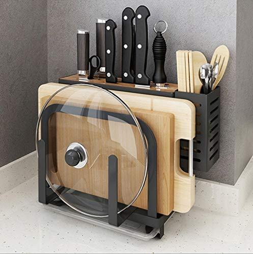 Multifunctional Creative Kitchen Storage Rack Kitchen Supplies(Black)
