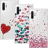 Young & Ming Funda para Samsung Galaxy Note 10 Plus/Note10 Plus 5G, (3 Pack) Transparente TPU Silicona Carcasa Delgado Antigolpes Resistente, Amor