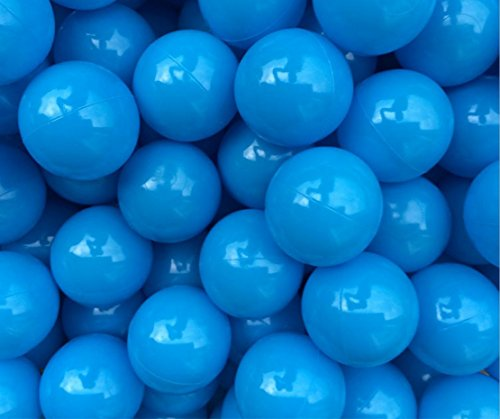 Justfund 100 bolas de plástico azul del océano libre de BPA bola de plástico a prueba de aplastamiento bebé niño juguetes natación Pit juguetes bola para bola pozo bebé niños tienda