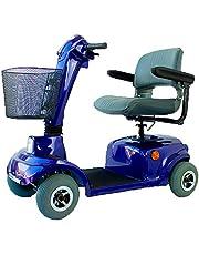 Mobiclinic, Piscis, Scooter eléctrico personas con movilidad reducida, adultos, minusválidos, discapacitados, 4 ruedas, Desmontable, Manillar plegable, asiento giratorio, Auton. 30 km, 12V, Azul