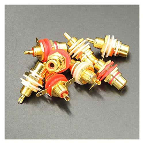 MeiZi 20pcs / lot sur Panneau plaqué Or RCA Femelle Prise Audio Jack Socket Amplificateur châssis Phono connecteur avec écrou Coupe à souder