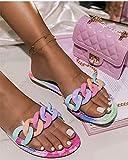 XUNHOU Zapatillas de Verano Ligeramente Suaves,Zapatillas Casuales de Moda de Colores, livianas con Zapatillas de Gran tamaño.-Color_39 EU,Chanclas de Gran Apariencia