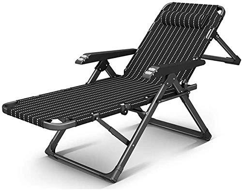 ZZX Relaxsessel Garten Liegestuhl Balkon Sonnenliege klappbar Freizeit-Stuhl Lehnstuhl, Schwere Liegestuhl Klapp Reise Liegestühle (Farbe, B),EIN