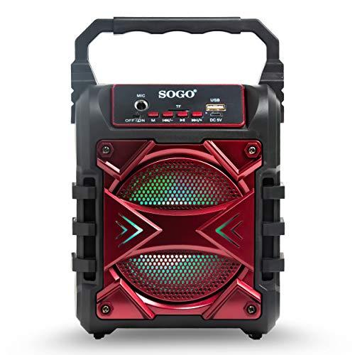 Sogo Mini Altavoz PORTÁTIL Bluetooth SS-8462 (Rojo)