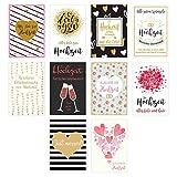 Edition Seidel Set 10 hochwertige Designer Premium Hochzeitskarten mit feiner Veredelung und Umschlag. Glückwunschkarte zur Hochzeit. Geschenk Geld Geldgeschenk (Klappkarten mit Briefumschlag)