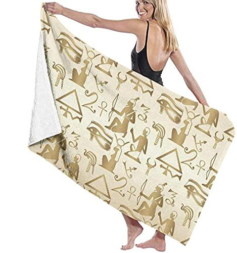 LUYIQ Toalla de Playa Grandes de Antiarena de Microfibra para Hombre Mujer, Egipcio-sin Costuras- -150x70cm, Toallas Baño Secado Rapido para Piscina, Manta Playa, Toalla Yoga Deporte Gimnasio