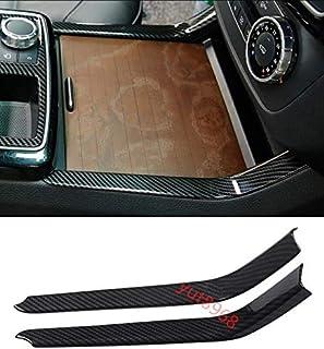 XZANTE Cubierta de la Consola Central para Mercedes W204 W212 Clase C S212 S204 e Clase Soporte de Vaso Rollo Cortina Control Intermedio Cubierta de la Cremallera Color Mijo