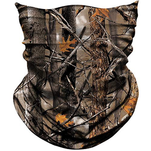 AXBXCX 2 Pack - Camouflage Print Seamless Neck Gaiter Bandana Face Mask Headband Headwear Scarf for Fishing Hiking Hunting Cycling Motorcycle Riding Skiing Outdoor Sport 069
