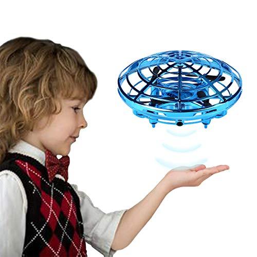 Etmury Mini Drohne für Kinder UFO - Quadcopter mit LED Licht - Intelligente Flying Ball Infrarot Induktion UFO - Fliegendes Spielzeug Geschenke für Jungen Mädchen Indoor Outdoor Fliegender Ball