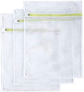 Laundry Bags, SASUM 3 Pack (3 Large) Mesh Thick Polyester Wash Bags Premium Durable White..