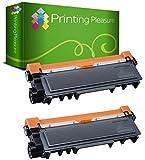 Pack 2 Unidades TN2320 Tóner Compatible con Brother HL-L2300D HL-L2340DW HL-L2360DN HL-L2365DW DCP-L2500D DCP-L2520DW DCP-L2540DN DCP-L2560DW MFC-L2700DW MFC-L2720DW MFC-L2740DW