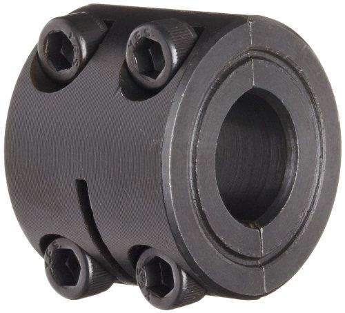 Höhepunkt Metall d2C-100zweiteilig aufspannung Kragen, doppelt breit, schwarz-Oxid Beschichtung, Stahl, 2,5cm Bohrung, 1–3/10,2cm OD, 11/40,6cm Breite