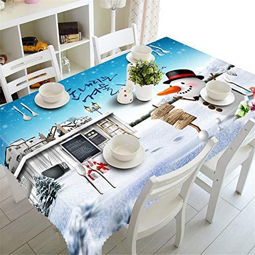 YQHWLKJ Nouvel an Nappe De Noël Cuisine Table À Manger Décorations Maison Rectangulaire Partie Table Couvre Ornements De Noël