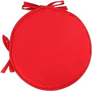 Homehome 2 tamaños lavables redondos multicolor cojines para silla, adecuados para jardín, terraza, cocina, oficina y comedor al aire libre (rojo 38 x 38 cm)