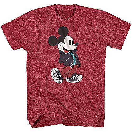 Disney's Mickey Mouse Hombres Chaqueta de Cuero Hipster basculante T-Camisa (Medio)