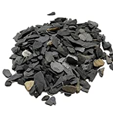 NATURAL SLATE - 100% real slate stone will add beauty and realism to your creations. Because these are natural stones, each bag is a mix of stones from 1/4 to 1/2 inches. Product of the USA PERFECT for creating walkways, benches, steps, archways, cav...