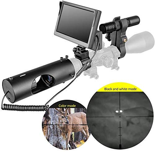 GJNVBDZSF Infrarot LED IR Nachtsicht-Zielfernrohr Jagdfernrohre Optik Visier wasserdichte Jagdkamera Jagd Wildlife Night Visi
