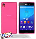 Muzzano Le Glossy - Funda para Sony Xperia M4 Aqua (protector de pantalla), color rosa