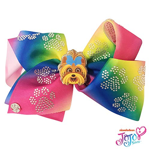 Jojo Siwa Girls Accessory Set Bow Headband 3 Pack Bracelet and Matching Hair Braid Tie Purple Rainbow