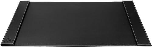 "popular SumacLife Hard Surface Anti Slip Leatherette Office Table Top 2021 Desk Pad, 34"" x new arrival 20"", Jet Black (DF_OSKDPD001) online sale"
