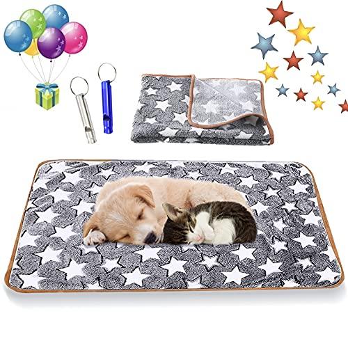 Hundedecke Kuscheldecke,104x75 Liegedecke für Hunde,Katzendecke mit Pfoten,Teppich Waschbar Haustiere,Flauschige Haustierdecke,Haustierdecke Hund,Haustierdecke