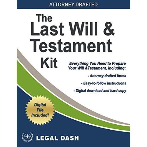 Last Will and Testament Forms: Amazon com
