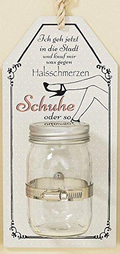 Unbekannt Spardose Wandschild Vorratsglas 29cm (Schuhe)