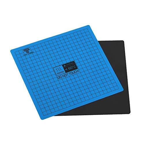 Aibecy Cama calefactada magnética de 200*200mm Plataforma de superficie de construcción Cinta de cama impresa Etiqueta de cama caliente flexible con respaldo adhesivo para Ender 3 Ender 5 Anet A8/A6