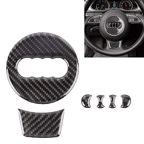 WHCWH Autoaufkleber Easy Car Carbon Fiber Lenkrad dekorative Aufkleber for Audi A4L / A5 / Q5 zu installieren