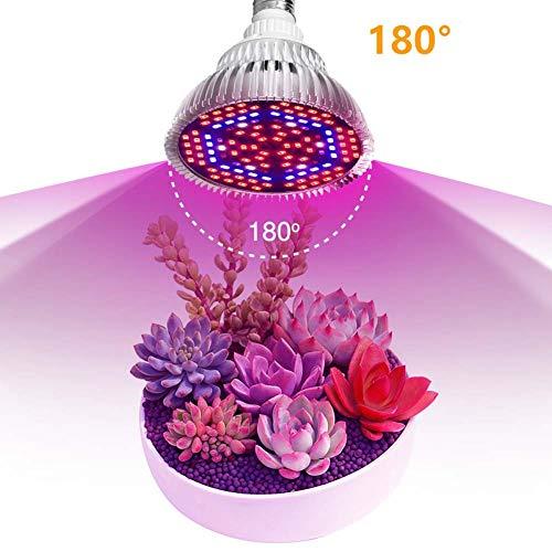 E27 lampara de cultivo led , la luz de la planta de espectro completo con bombillas rojas / azules, las bombillas de cultivo de plantas de 180 grados bombillas for jardinería de invernaderos
