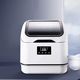 SILENTLY Mini Portátil Lavaplatos, 8 Principales Programas / 360 ° De Rotación Spray De Limpieza, Secado Y Desinfección De Pequeño Integrado Lavavajillas
