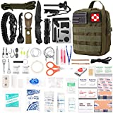 Best Survival Kits - 216 Pcs Survival First Aid kit, Professional Survival Review