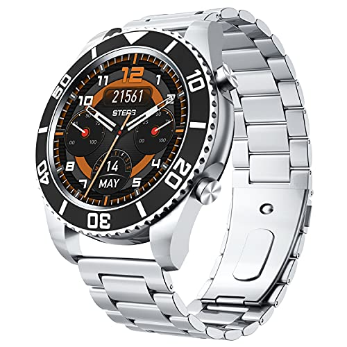 ZRSJ 2021 Water Ghost Fine Steel Strap Smart Watch Men Sport Business Watch for Samsung Huawei Amazfit Rolex Watch(Negro)