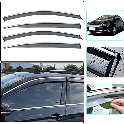 Handao-US Auto Windabweiser für Volkswagen Passat B7 B7L 2011-2016 All Weather Wasserdicht Beschlagfrei Beschattung Autofenster 4 Stück Set