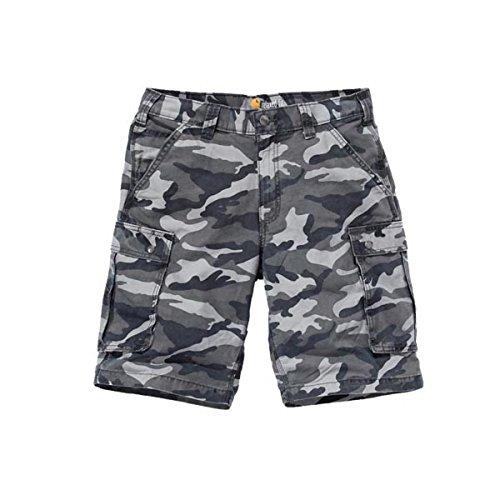 Carhartt Mens Cargo Shorts, Rugged Gray Camo, W38