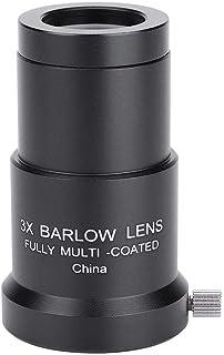 Acouto 2X Telescope Barlow Lens for Telescope,1.25 Plossl Telescope Eyepiece Set 4//10//25mm 2X Barlow Lens Kit for Astronomy