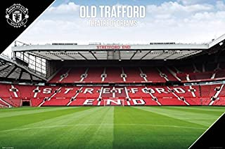Manchester United - Soccer Poster/Print (Old Trafford - The Stadium) (Size: 36 inches x 24 inches)
