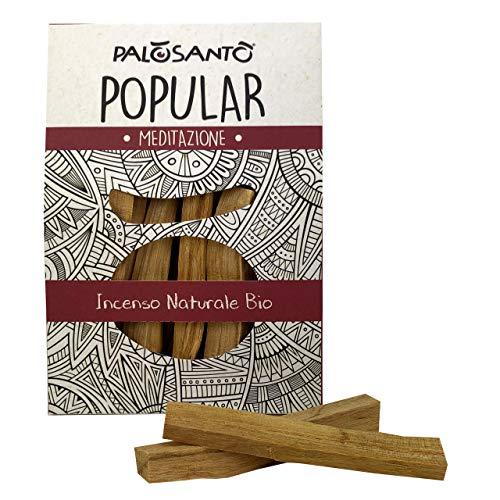 Incienso Natural Palo Santo - Palitos Variedad Popular Ayabaca - gr. 80 - Aroma para Yoga, meditación, relajación, espiritualidad, Viaje Interior - Chamanismo