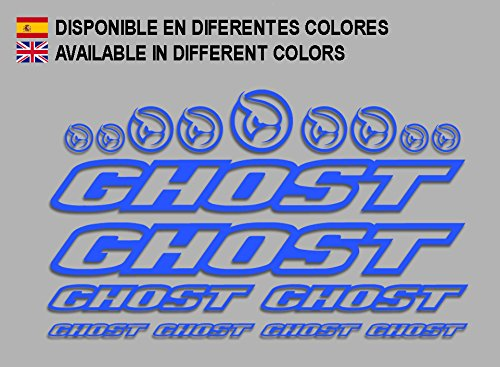 Ecoshirt CP-5IKZ-S1A5 Aufkleber Ghost F188 Vinyl Adesivi Decal Aufkleber-Set ungemoppy MTB Stickers Bike, blau