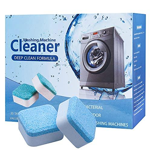 30 Stück Waschmaschinenreiniger, Waschmaschine Reiniger Schaum, Solide Brausetabletten Reiniger, Waschmaschinenreiniger Tablette für Frontlader und Toplader