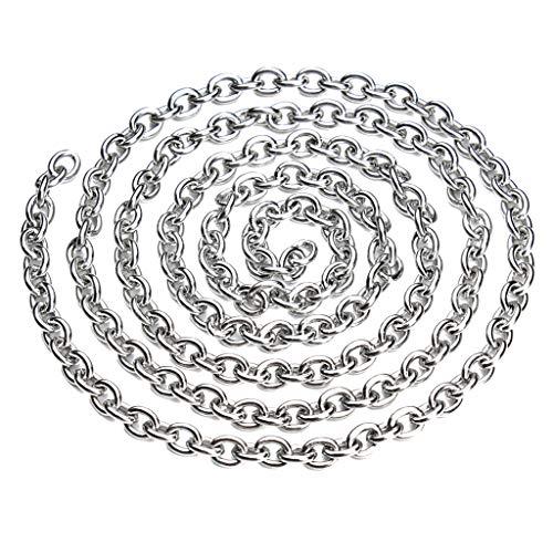 sharprepublic 5 Meter Edelstahlkette Kugelkette Rollo Kette Perlenkette Halsketten Dekoration Schmuck Brillenketten Bedienkette Ersatzkette - 4x5mm