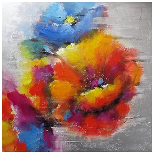 Mendola Art da 218fopi1512db Dipinto a Mano Field Flowers, 60x 60cm