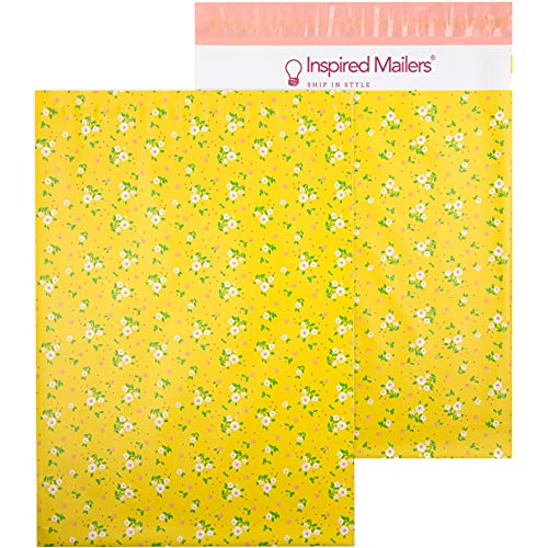 Inspired Mailers - Poly Mailers 10x13-100 Pack - Marigold Petite Floral - 10x13 Poly Mailers - Mailing Bags - Shirt Packaging Bags - Packing Envelopes for Shipping