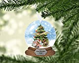 Baby's First Christmas Snow Globe Ornament, Christmas, Personalized, Name Ornament, Custom Christmas, Baby's First Christmas, Kids Ornament