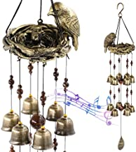 Bird Nest Wind Chimes For Outside Deep Tone With 12 Wind Bells For Mother's Love Gift, Christmas Hummingbird Sympathy Memorial Large Wind Chimes For Garden Backyard Church Hanging Decor, Bronze Gold