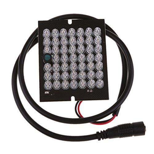 H HILABEE 48 LED Infrarot IR 90 Grad Birne Bord 940nm Für Überwachungskamera