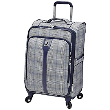 London Fog Knightsbridge Hl 21  Expandable Spinner, Grey/Navy Plaid