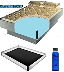 Mattress Cover will protect your waterbed mattress while increasing comfort. Your heater will turn on a lot less and you will notice that your sheets stay on allot better. This mattress Cover and liner fits California King Wood Frame waterbeds. This ...