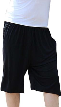 GladiolusA Mens Lounge Shorts Pyjama Bottoms Plus Size Pjs Nightwear Pants Trunks Trousers Home Sleep Shorts Loose Athletic Short