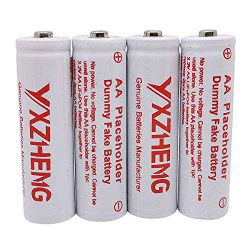 Dummy Cell AA 4pcs/lot Fake Battery AA Battery Place Holder (4pcs AA placeholders)